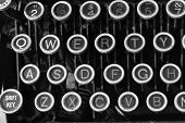 foto of qwerty  - Antique Typewriter  - JPG