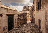 picture of sassy  - Sassi the historic center of the city Matera in Italy - JPG