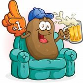stock photo of couch potato  - A happy couch potato - JPG