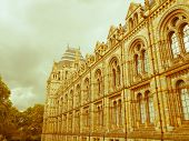 pic of kensington  - Vintage look The Natural History Museum on Exhibition Road South Kensington London England UK - JPG