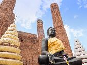 Black Buddha At Ayutthaya-thailand