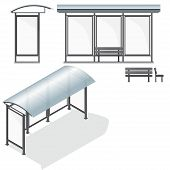 picture of bus-shelter  - Bus Stop - JPG