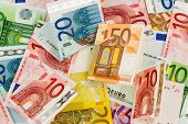 foto of precaution  - many different euro bills - JPG