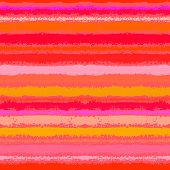 stock photo of psychedelic  - Striped pattern inspired by tropical nature in coral red and orange - JPG