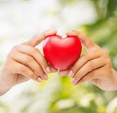 stock photo of cardiology  - health and charity concept  - JPG