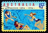 Postage Stamp Australia 1994 Swimming, Education