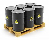 pic of wooden pallet  - Oil and gas industry business concept - JPG