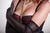 picture of red lingerie  - Close - JPG