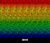 Happy new year 2014 - stereogram