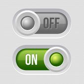 pic of toggle switch  - Toggle Switch Sliders On and Off position - JPG
