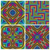 picture of kinky  - Seamless funky pop art texture with optic three - JPG