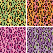 stock photo of ocelot  - Seamless pattern of leopard spots in  - JPG