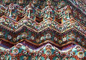 picture of gable-roof  - part of the beautiful Buddhist temple gable at Thailand - JPG
