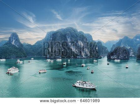 Early Morning At Ha Long Bay, Vietnam