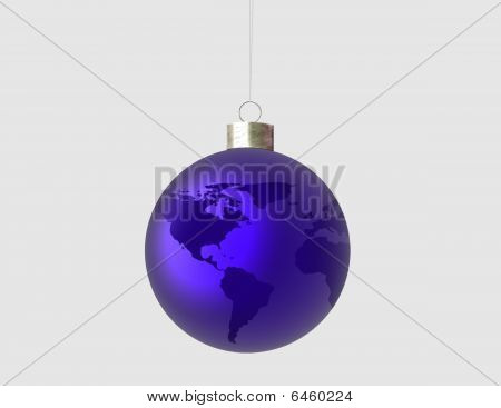 Ornament with world