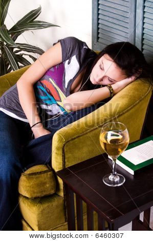 Cute Teen Girl Sleeping