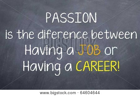 Job or Career for Passion