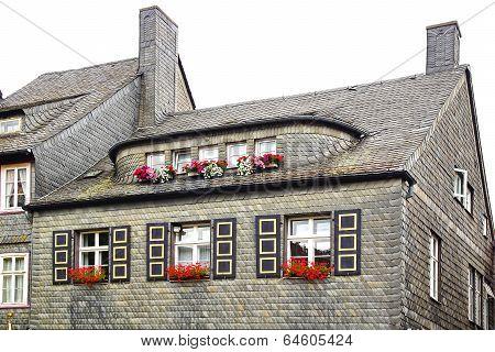 Grey stone tile. Goslar, Germany