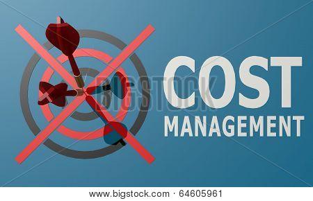 Dart Board Blue Cost Management