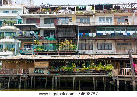 Poor home facade in Bangkok, Thailand