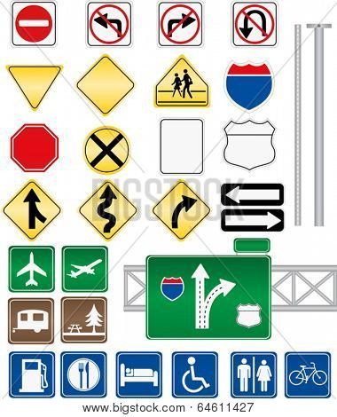 Road Sign Vectors without text