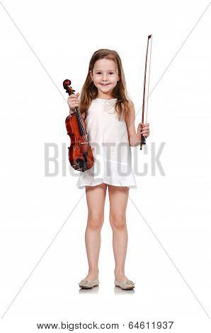 Girl Holding Violin