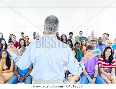 Large group of Students in lecture room