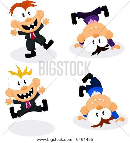 Cartoon Office Personnel