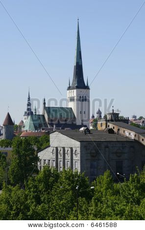 St. Olaf's Church (oleviste Kirik) In Tallinn, Estonia