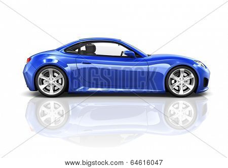 Luxury Blue Sports Car 3D