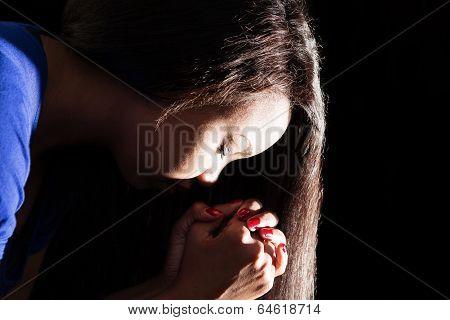 Young Lady Praying