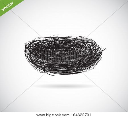 Vector Image Of An Bird's Nest