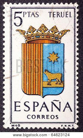 Arms Of Provincial Capitals Shows Teruel