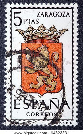 Arms Of Provincial Capitals Shows Zaragoza