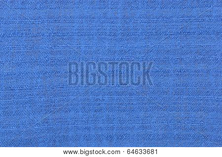 Close Up Blue Linen Texture Background