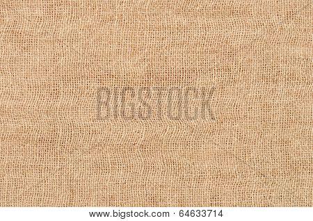 Close Up Brown Linen Texture Background