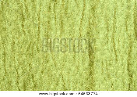 Close Up Green Linen Texture Background