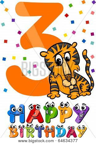 Third Birthday Cartoon Design