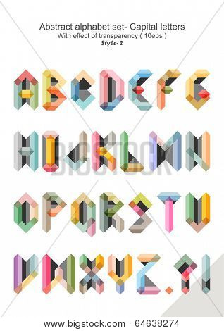 Abstract alphabet set - Capital letters ( 10eps ) style 2