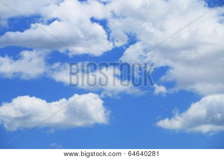 Blue sky with clouds for background