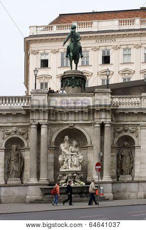 Equestrian statue of Albert in Vienna