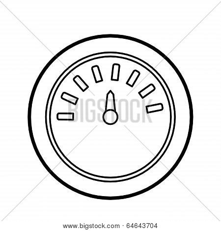gage outline vector