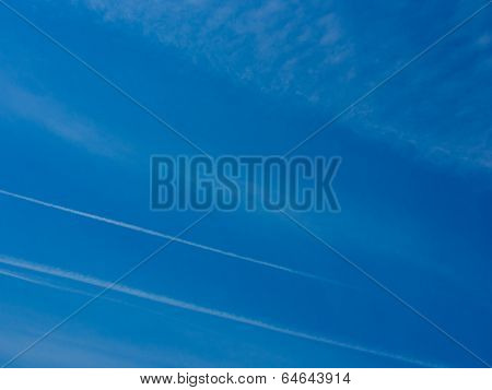 Blue Sky Contrail Floats