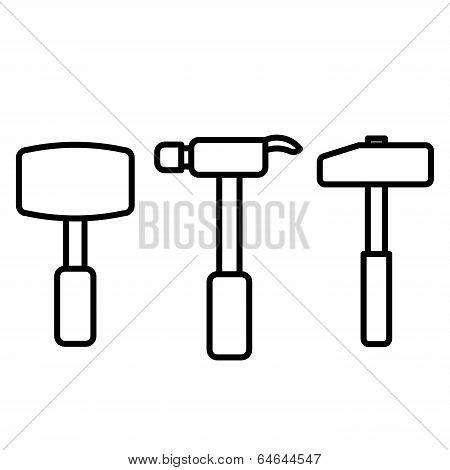 Hammer Outline Vector.eps