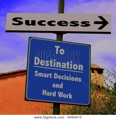 Success in Business Road Sign
