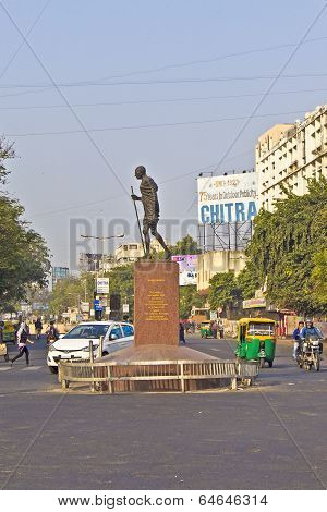 Monument Of Gandhis Dandi Marsh In Ahmedabad