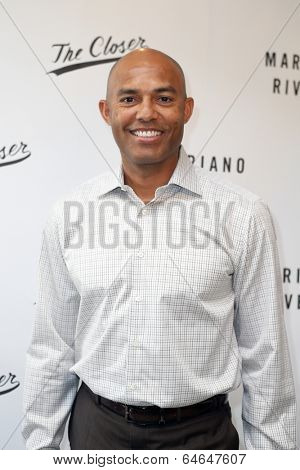 NEW YORK-MAY 6: Former baseball pitcher Mariano Rivera signs copies of his book 'The Closer: My Story' at Book Revue on May 6, 2014 in Huntington, NY.
