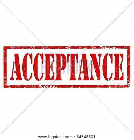 Acceptance-stamp