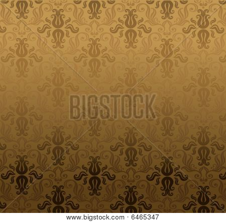 Brown ornamental pattern