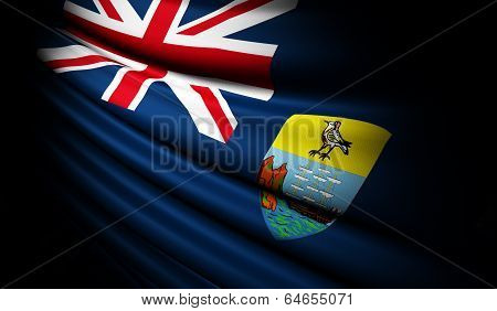 Saint Helena Flag Waving On The Wind